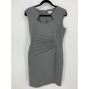 Calvin Klein 10 gray career dress ruched